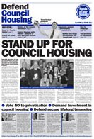 Tenants say Stand Up For Council Housing